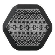 Aztec Essence Pattern III Black on Grey Black Bluetooth Speaker