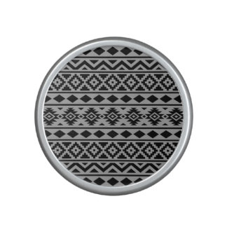 Aztec Essence Pattern III Black on Grey Bluetooth Speaker