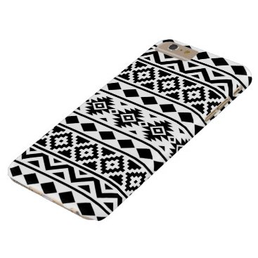 Aztec Themed Aztec Essence Pattern III Black on White Barely There iPhone 6 Plus Case