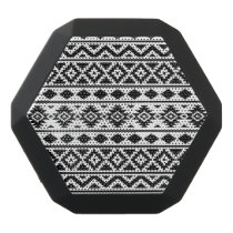 Aztec Essence Pattern III Black on White Black Bluetooth Speaker