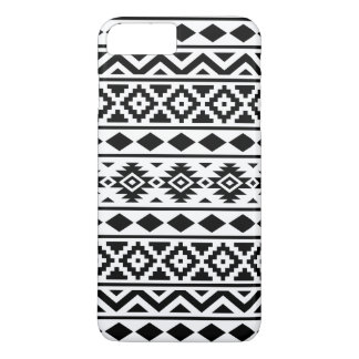Aztec Essence Pattern III Black on White iPhone 7 Plus Case