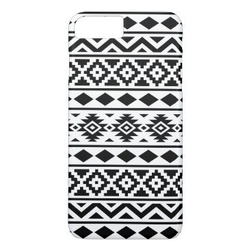 Aztec Themed Aztec Essence Pattern III Black on White iPhone 7 Plus Case