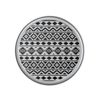 Aztec Essence Pattern III Black on White Speaker