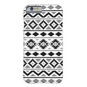 Aztec Themed Aztec Essence Pattern III Black White Gray Barely There iPhone 6 Case