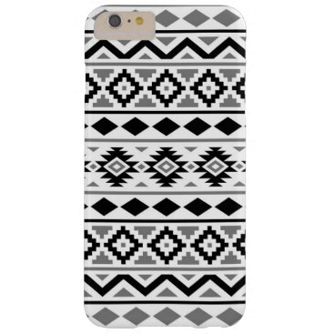 Aztec Themed Aztec Essence Pattern III Black White Gray Barely There iPhone 6 Plus Case