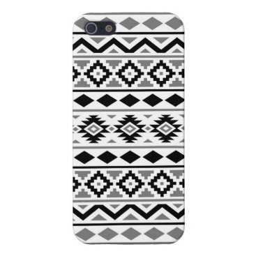 Aztec Themed Aztec Essence Pattern III Black White Gray Case For iPhone SE/5/5s