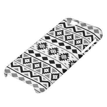 Aztec Themed Aztec Essence Pattern III Black White Gray iPhone 5C Cases