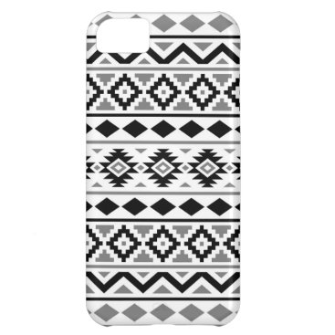 Aztec Themed Aztec Essence Pattern III Black White Gray iPhone 5C Cover