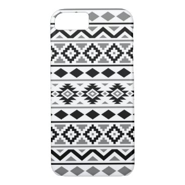 Aztec Themed Aztec Essence Pattern III Black White Gray iPhone 7 Case