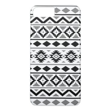 Aztec Themed Aztec Essence Pattern III Black White Gray iPhone 7 Plus Case