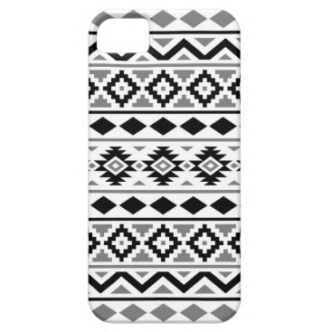 Aztec Themed Aztec Essence Pattern III Black White Gray iPhone SE/5/5s Case