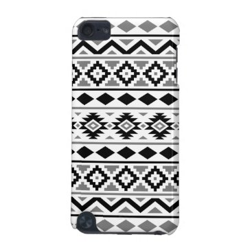 Aztec Themed Aztec Essence Pattern III Black White Gray iPod Touch (5th Generation) Cover