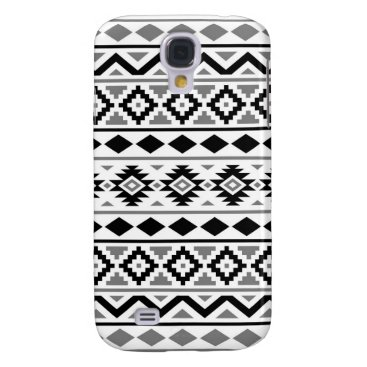 Aztec Themed Aztec Essence Pattern III Black White Gray Samsung Galaxy S4 Case