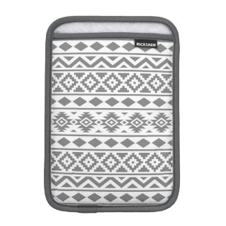 Aztec Essence Pattern III Grey on White Sleeve For iPad Mini