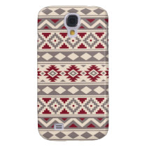 Aztec Essence Pattern IIIb Cream Taupe Red Samsung Galaxy S4 Cover