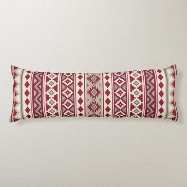 Aztec Themed Aztec Essence Ptn IIb Red Grays Cream Sand Body Pillow