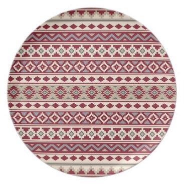 Aztec Themed Aztec Essence Ptn IIb Red Grays Cream Sand Dinner Plate
