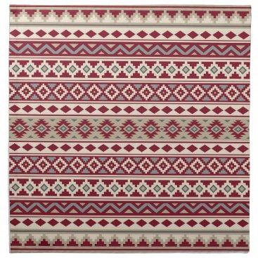 Aztec Themed Aztec Essence Ptn IIb Red Grays Cream Sand Napkin