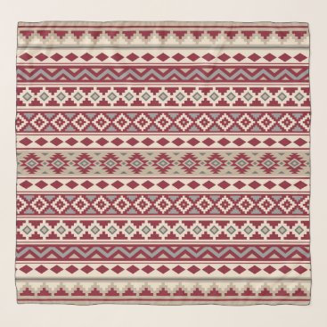 Aztec Themed Aztec Essence Ptn IIb Red Grays Cream Sand Scarf
