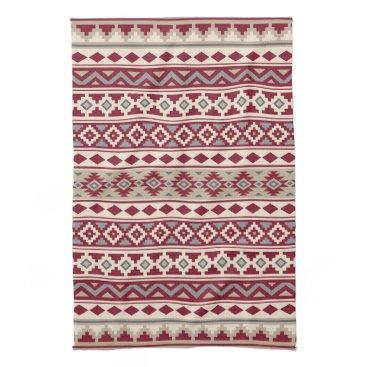 Aztec Themed Aztec Essence Ptn IIb Red Grays Cream Sand Towel