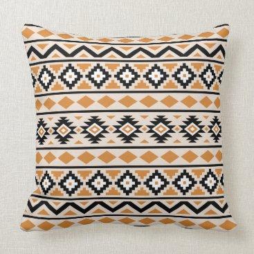 Aztec Themed Aztec Essence Ptn III BW Cream Orange Throw Pillow