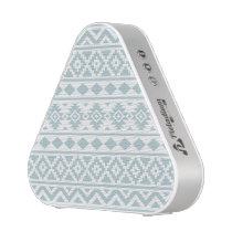 Aztec Essence Ptn III Duck Egg Blue on White Bluetooth Speaker