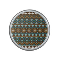 Aztec Essence Ptn III Teals Gold Cream Brown Bluetooth Speaker