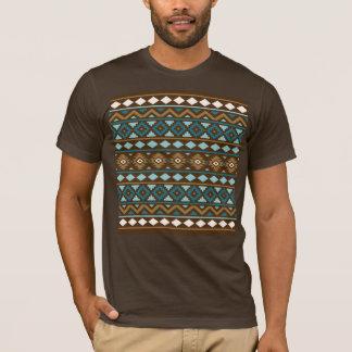 Aztec Essence Ptn III Teals Gold Cream Brown T-Shirt