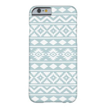 Aztec Themed Aztec Essence Ptn III White on Duck Egg Blue Barely There iPhone 6 Case