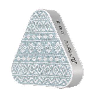 Aztec Essence Ptn III White on Duck Egg Blue Speaker