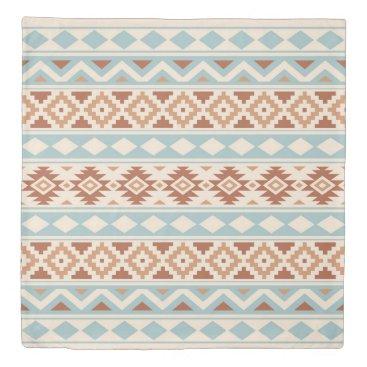 Aztec Themed Aztec Essence Ptn IIIb Cream Blue Terracottas Duvet Cover