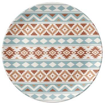 Aztec Themed Aztec Essence Ptn IIIb Cream Blue Terracottas Plate