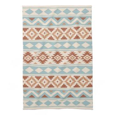 Aztec Themed Aztec Essence Ptn IIIb Cream Blue Terracottas Towel