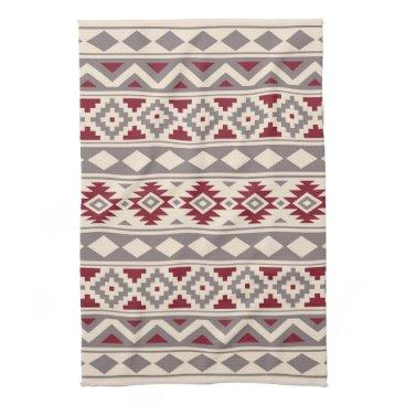 Aztec Themed Aztec Essence Ptn IIIb Cream Taupe Red Kitchen Towel
