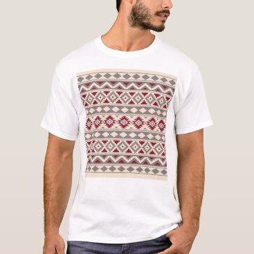 Aztec Themed Aztec Essence Ptn IIIb Cream Taupe Red T-Shirt