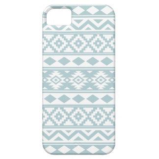 Aztec Essence Ptn IIIb Duck Egg Blue & White iPhone SE/5/5s Case
