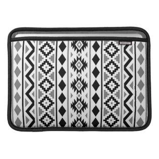 Aztec Essence (V) Pattern III Black White Gray MacBook Air Sleeve