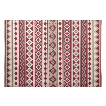 Aztec Themed Aztec Essence V Ptn IIb Red Grays Cream Sand Placemat