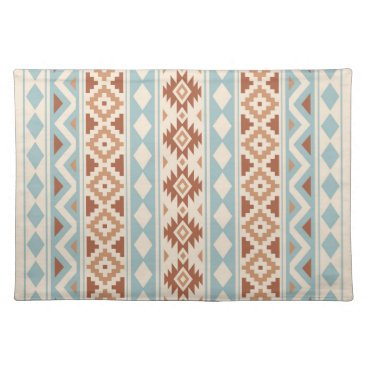 Aztec Themed Aztec Essence V Ptn IIIb Cream Blue Terracottas Cloth Placemat