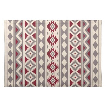 Aztec Themed Aztec Essence V Ptn IIIb Cream Taupe Red Cloth Placemat