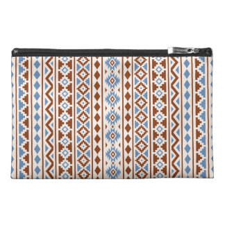 Aztec Essence Vertical Ptn II Rust Blue Cream Travel Accessory Bags