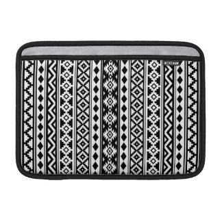 Aztec Essence Vertical Ptn IIb Black & White MacBook Air Sleeve