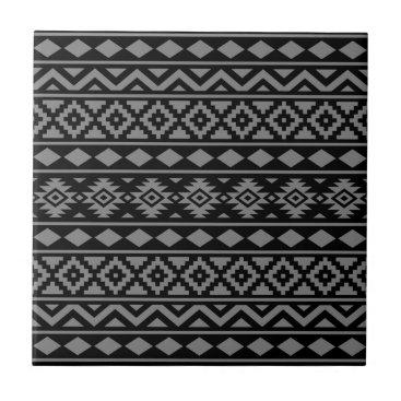 Aztec Themed Aztec Essence Vertical Ptn III Grey on Black Tile