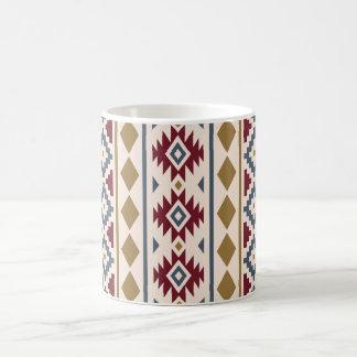 Aztec Essence Vertical Ptn III Red Blue Gold Cream Coffee Mug