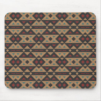 Aztec Fabric Design. Chic Native American, Tribal Mouse Pad