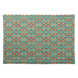 Aztec Fabric Native American Tribal Design Of Placemats