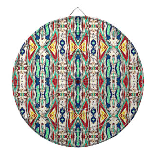 Aztec Fabric. Tribal Pattern. Native American Dartboard