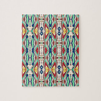 Aztec Fabric. Tribal Pattern. Native American Jigsaw Puzzle