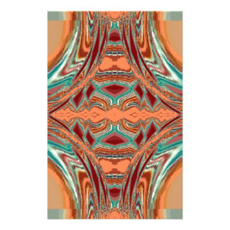 Aztec Fabric. Tribal Pattern Custom Stationery