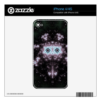 Aztec Face Fractal Design Decal For The iPhone 4S